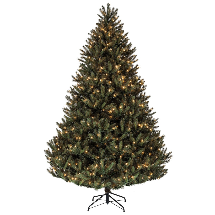 Shop Holiday Living 7 5 Ft Pre Lit Fir Artificial