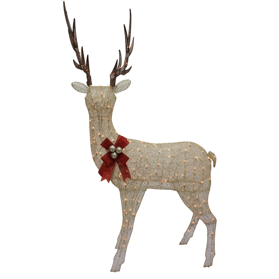 Holiday Living Pre-Lit Buck Light Display with Constant Clear White Incandescent Lights
