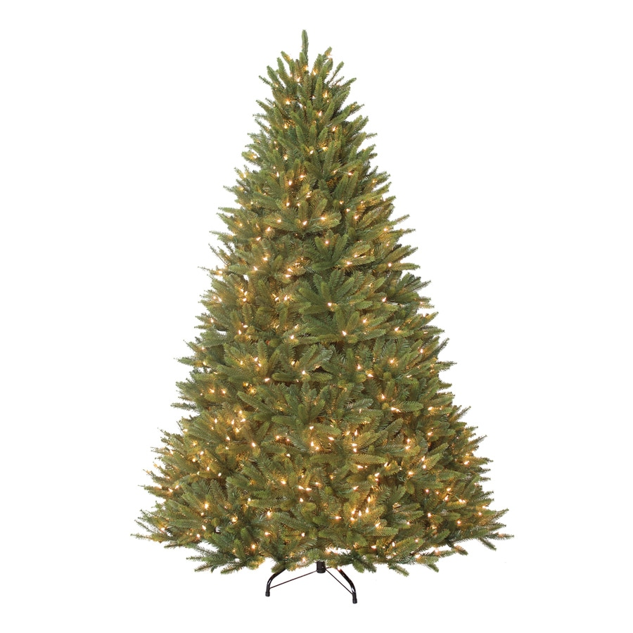 Holiday Living 7.5-ft Pre-Lit Grand Fir Artificial Christmas Tree with White Clear Incandescent Lights