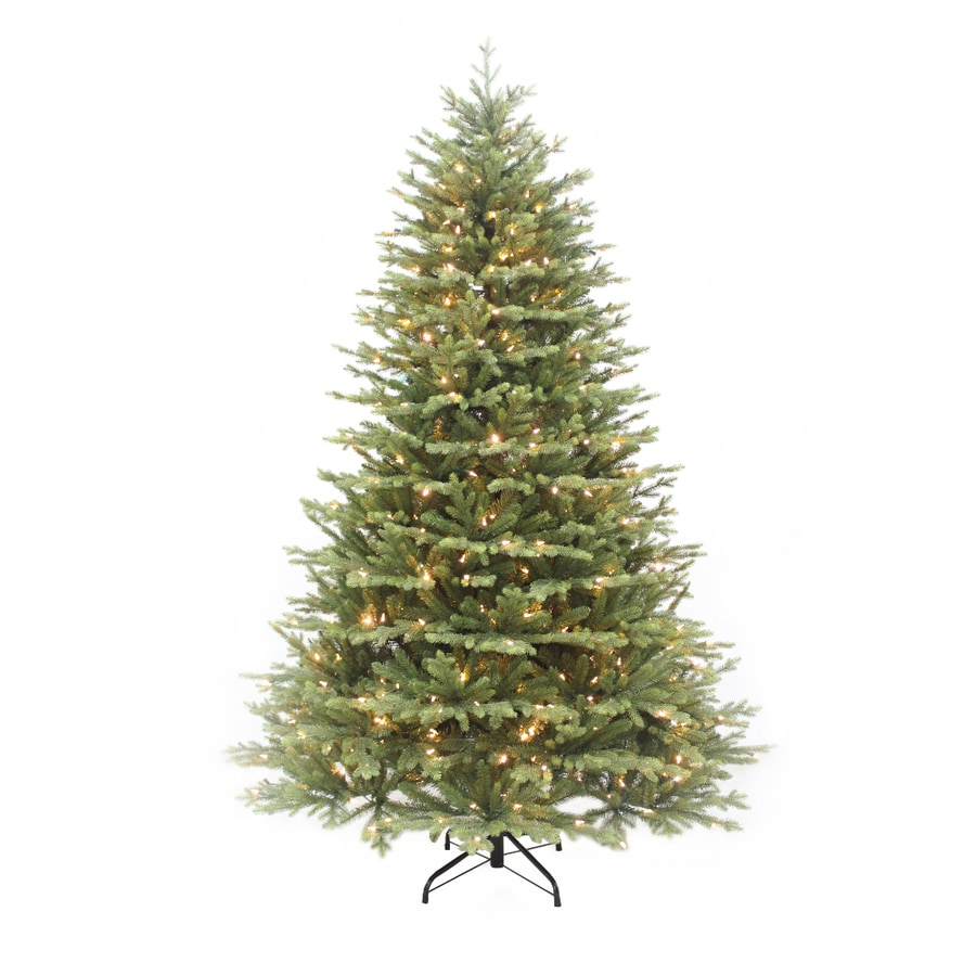 Puleo International 7.5-ft 4452-Count Pre-lit  Artificial Christmas Tree with Constant 800 Single Plug White Warm White Incandescent LightsLights
