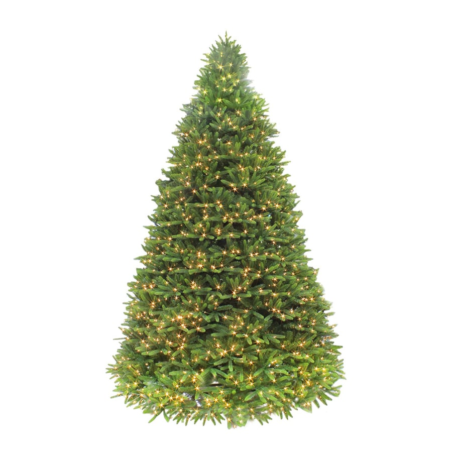 Puleo International 12-ft 6608-Count Pre-lit  Artificial Christmas Tree with Constant 2000 Single Plug White Warm White LED LightsLights