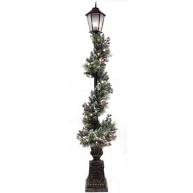 holiday living 84 in lamp post lamp post with white led lights - Outdoor Christmas Lamp Post Decoration