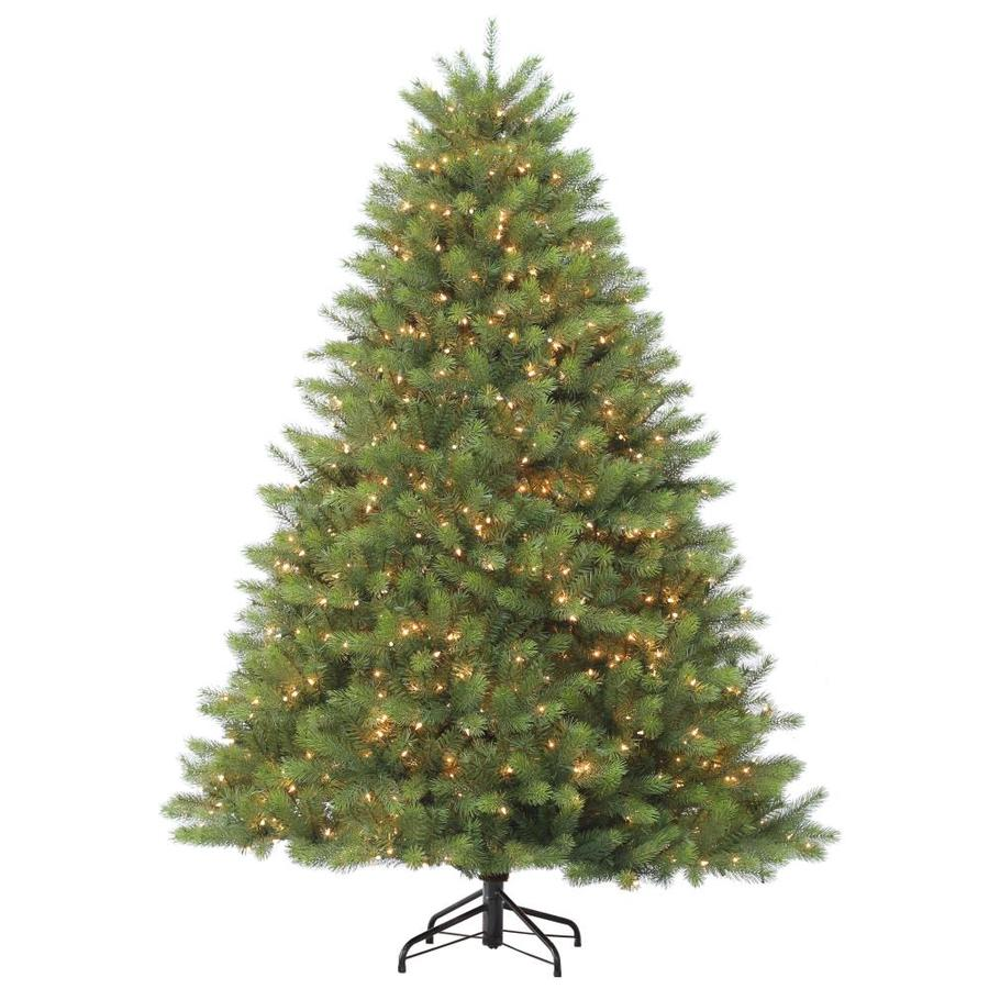 Holiday Living 7.5-ft Pre-lit Douglas Fir Artificial ...