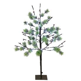 Puleo International 3 ft. Pre-Lit Twig Tree with 120 White LED Twinkle Lights