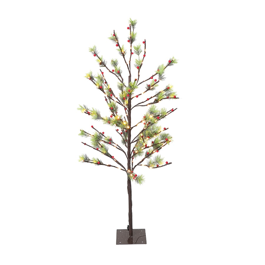 Pre Lit Christmas Tree Fuses: Puleo International 4-ft Pre-lit Artificial Christmas Tree