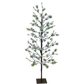 Puleo International 5 ft. Pre-Lit Twig Tree with 200 White LED Twinkle Lights