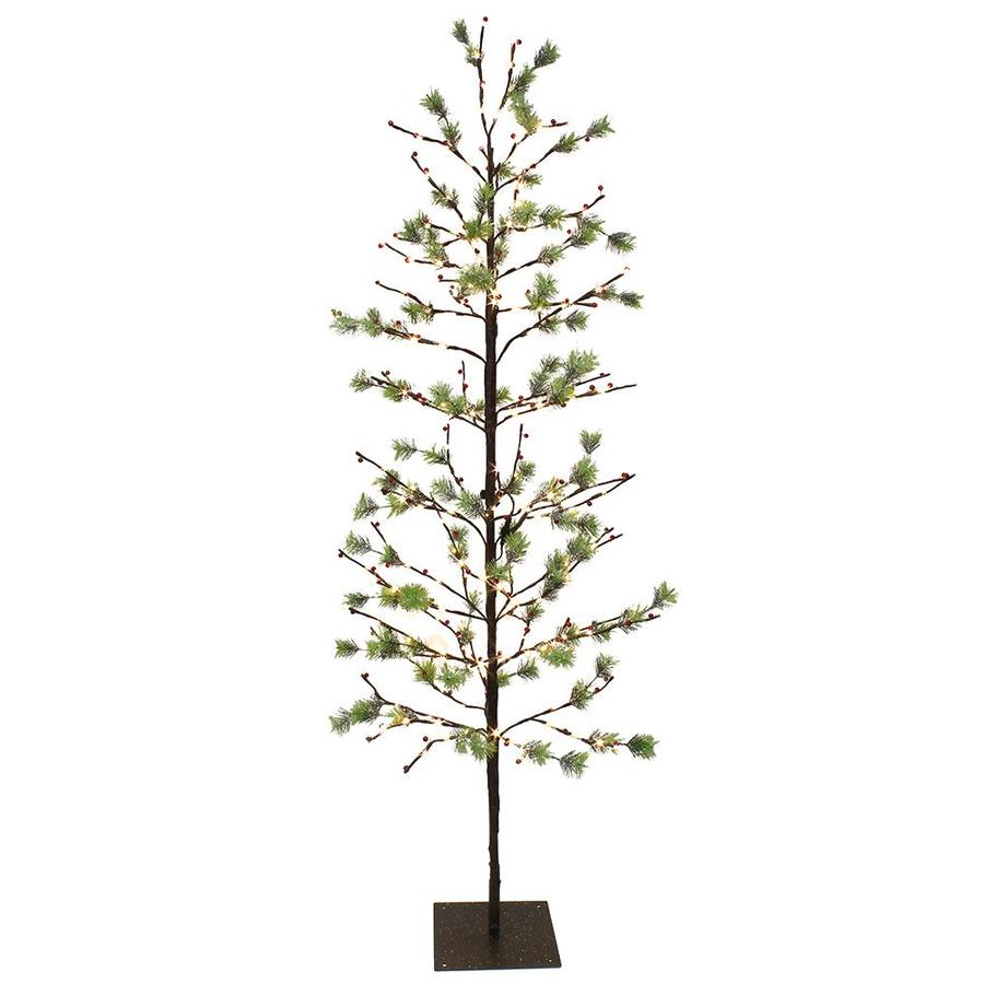 Pre Lit Led Lights Christmas Tree: Puleo International 6-ft Pre-lit Artificial Christmas Tree