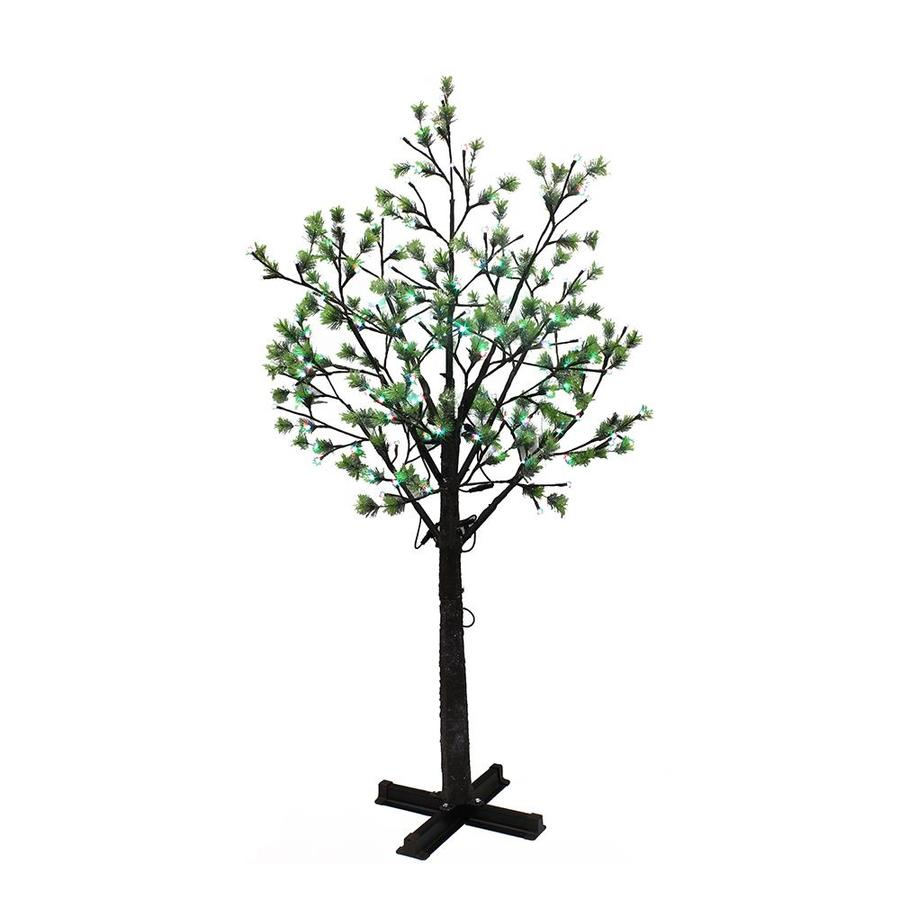 Puleo International 7.5-ft Pre-lit Artificial Christmas ...