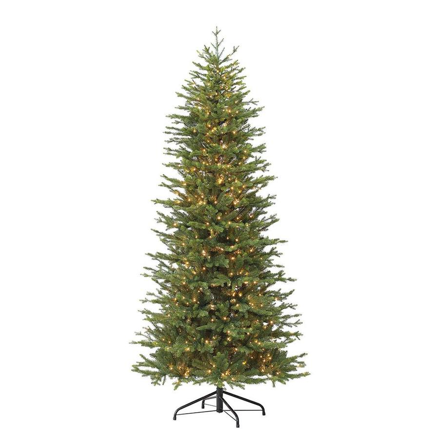 Pre Lit Christmas Tree Fuses: Puleo International 7.5-ft Pre-lit Flocked Artificial
