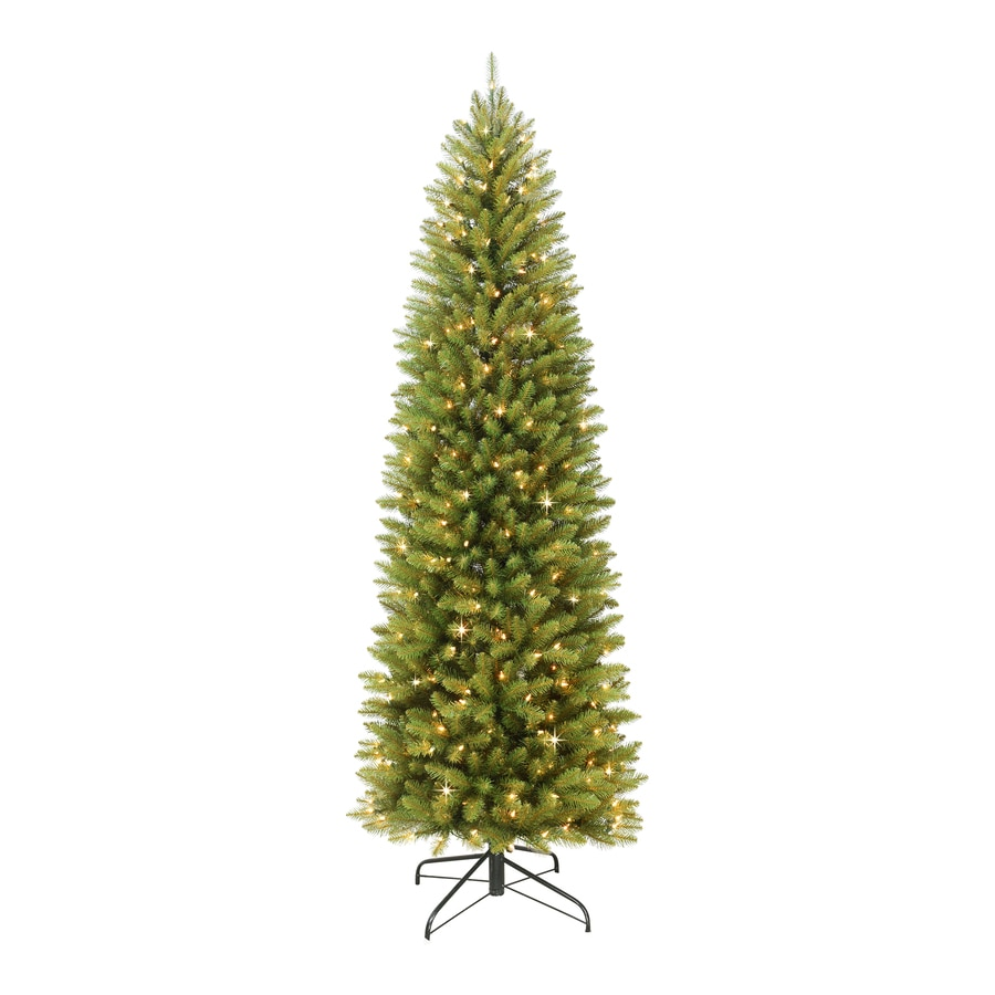 Pre Lit Christmas Tree Fuses: Puleo International 6.5-ft Pre-lit Slim Artificial