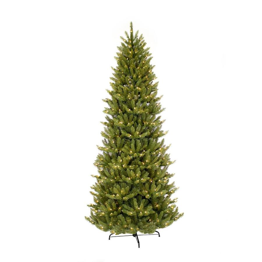 Puleo International 9 Ft Pre Lit Slim Artificial Christmas Tree With