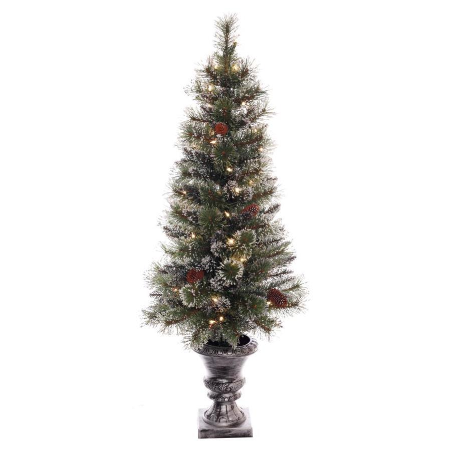 Puleo International 4 Ft Pre Lit Artificial Christmas Tree