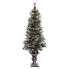 d92e95127c8 Puleo International 4-ft Pre-lit Artificial Christmas Tree with 50 Constant  White Clear