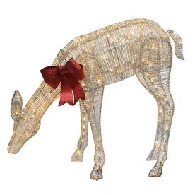 puleo international 405 in premium standing led lighted feeding elk yard art - Christmas Horse Yard Decorations