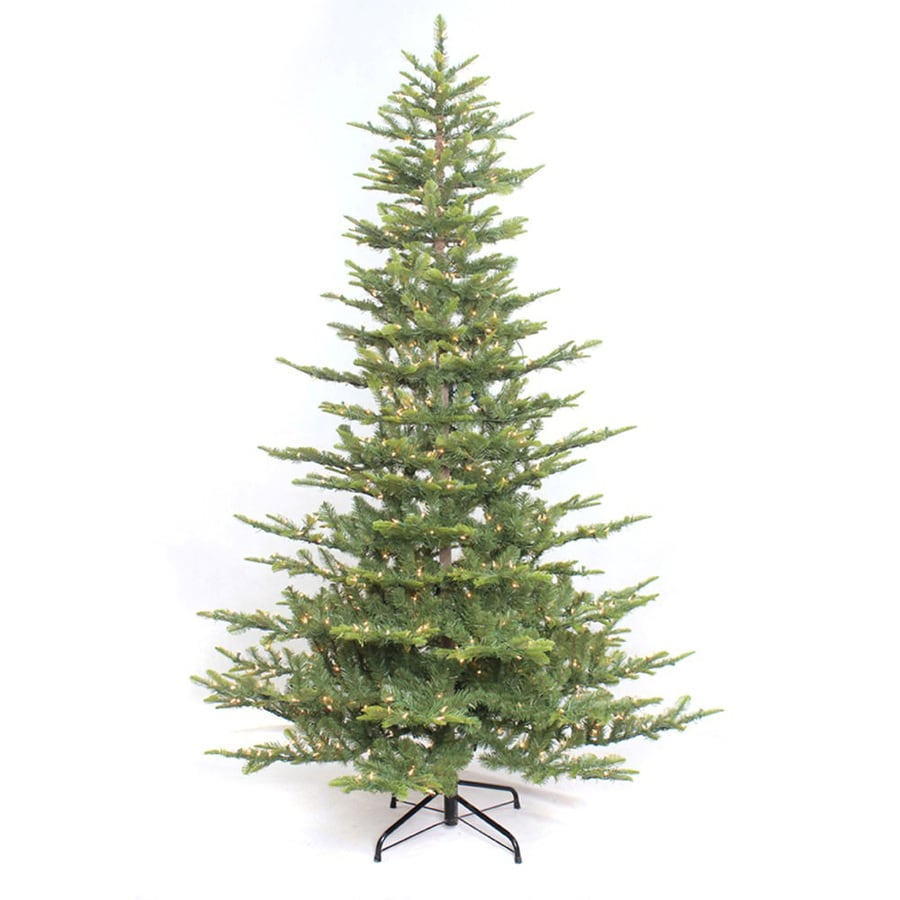 Puleo International 7.5-ft Pre-lit Artificial Christmas Tree with 700 Constant White Clear Incandescent Lights