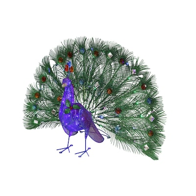 Holiday Living 36-in Long Lighted Peacock