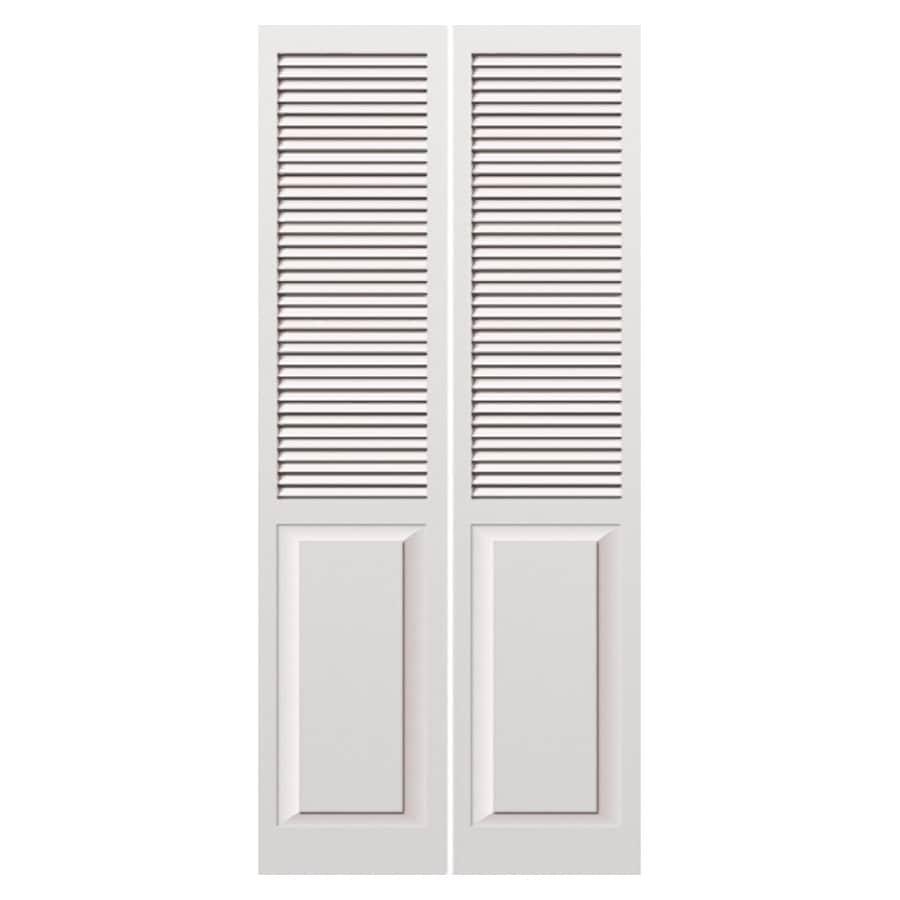 "ReliaBilt 24"" White Louver Panel Bi-Fold Door Unit"