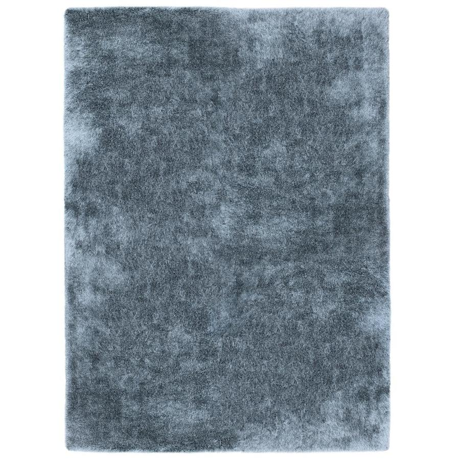 Allen Roth Korleigh Shag Blue Indoor Area Rug Common
