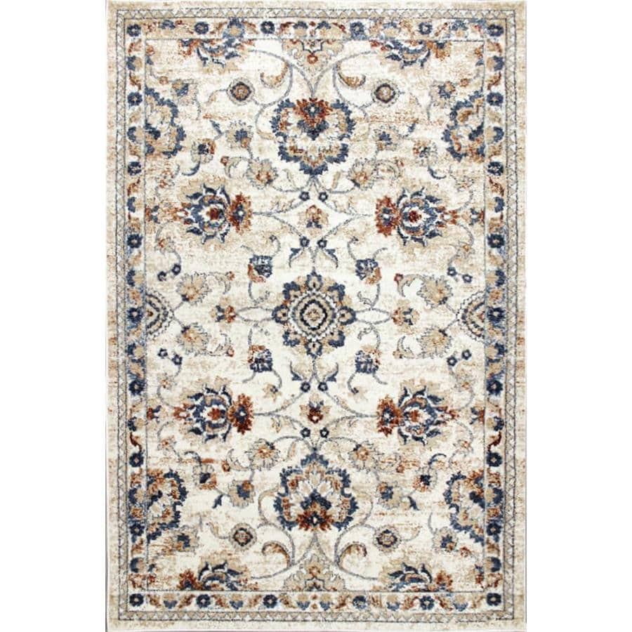 Carpet Art Deco Milos 5x7 Beige Area Rug Cream Indoor Area Rug