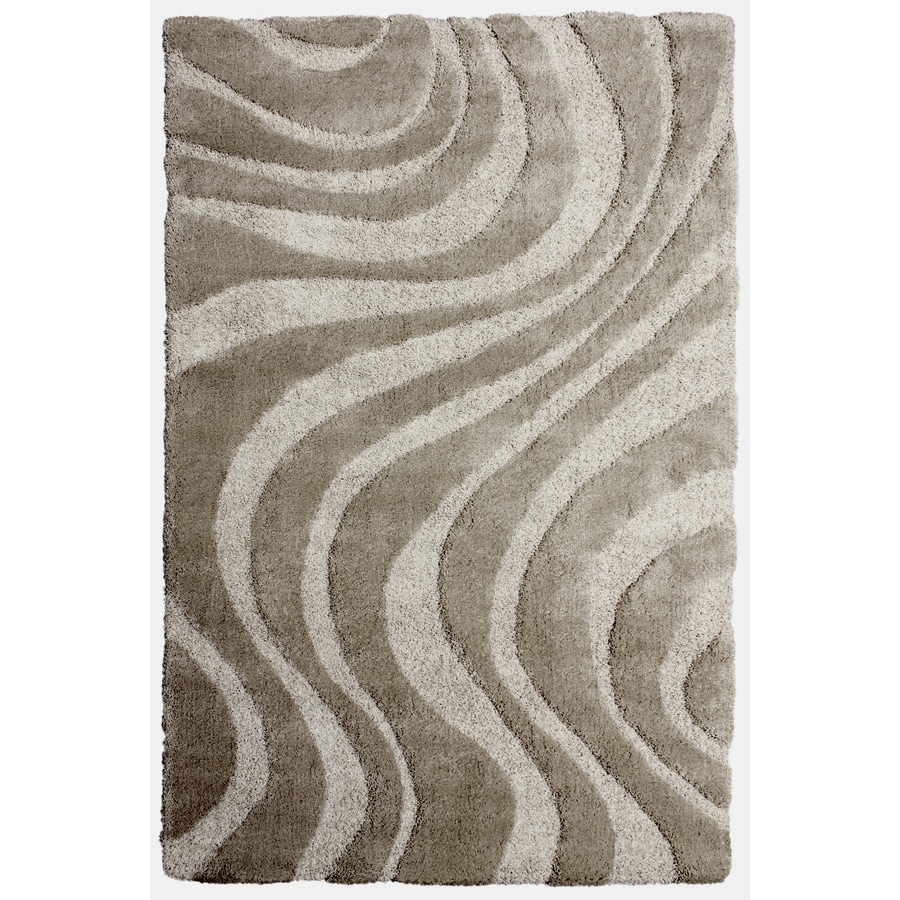 Carpet Art Deco Symetry Light Grey Rectangular Indoor Machine-Made Inspirational Area Rug (Common: 5 x 7; Actual: 5.25-ft W x 7.46-ft L)