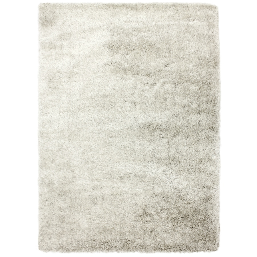 Carpet Art Deco Fusion White Rectangular Indoor Machine-Made Inspirational Area Rug (Common: 8 x 10; Actual: 8-ft W x 10-ft L)