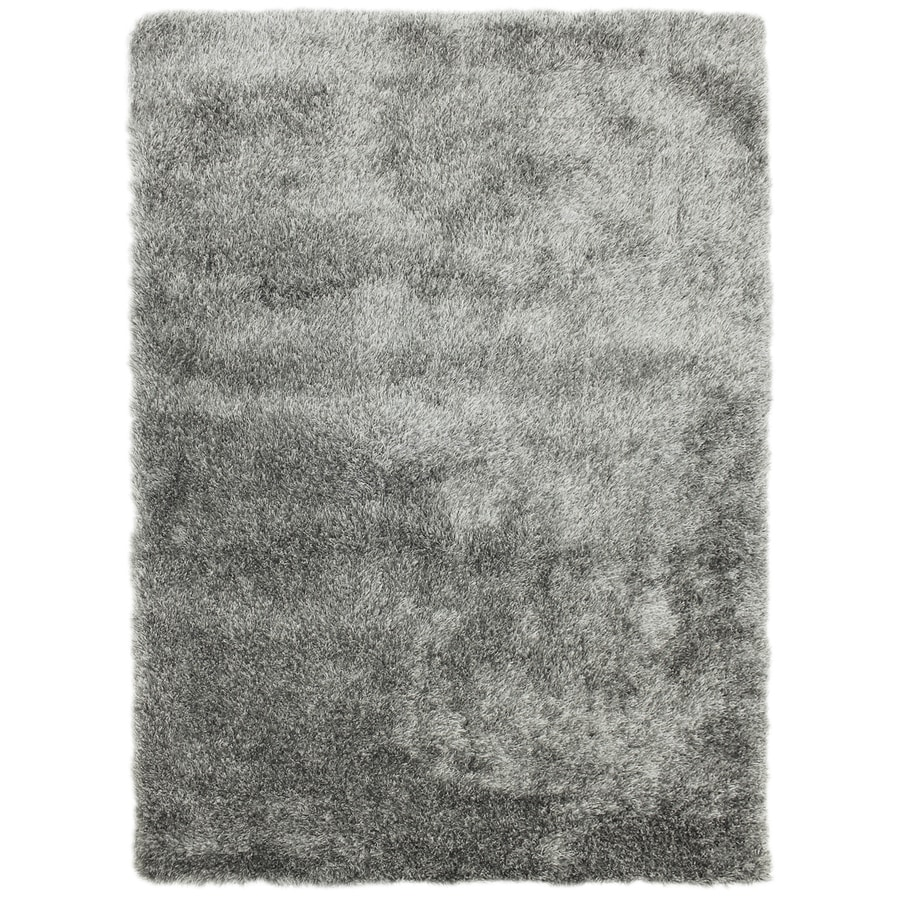 Carpet Art Deco Fusion Gray Rectangular Indoor Machine-Made Inspirational Area Rug (Common: 8 x 10; Actual: 8-ft W x 10-ft L)