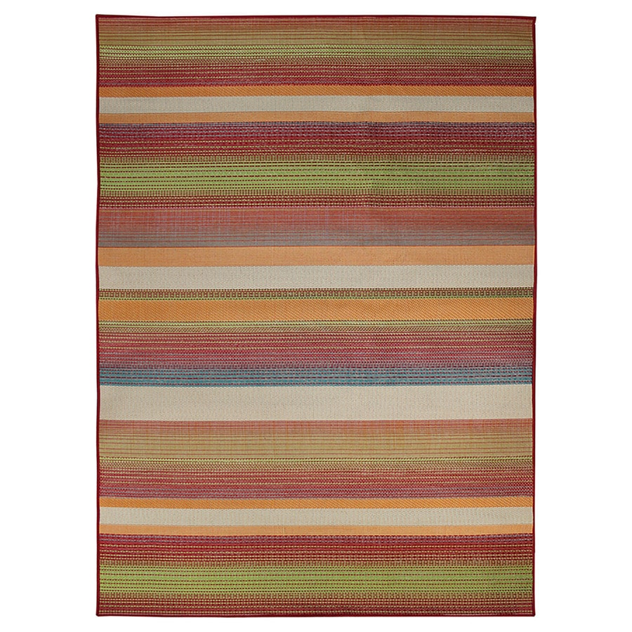 Shop Carpet Art Deco Sunshine Multicolor Rectangular Indoor ...