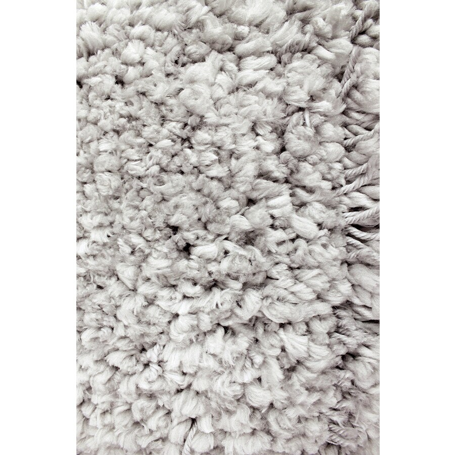 Carpet Art Deco Veneto Light Grey Rectangular Indoor Machine-made Area Rug (Common: 5 x 8; Actual:-ft W x 5.3-ft L x 7.5-ft dia)