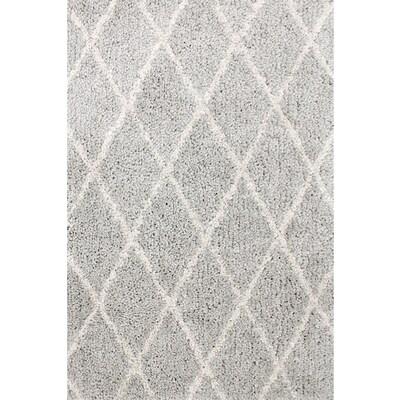 Carpet Art Deco Veneto Light Grey White Rectangular Indoor