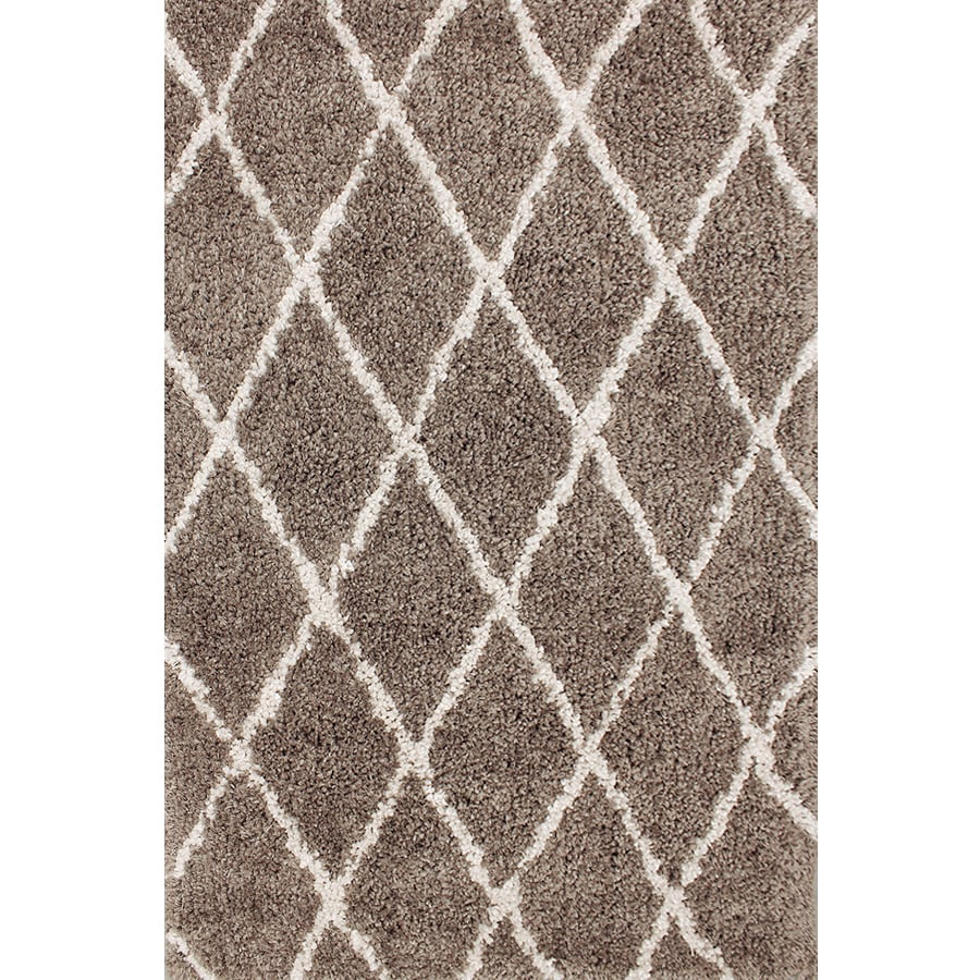 Shop carpet art deco veneto taupe white rectangular indoor machine made area rug common 5 x 8 - Deco toiletten taupe ...