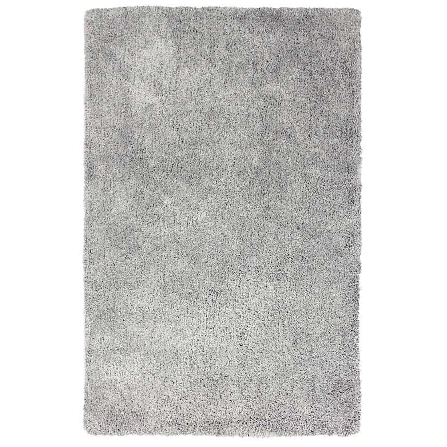 Carpet Art Deco Amest Gray Rectangular Indoor Machine-Made Inspirational Area Rug (Common: 5 x 7; Actual: 5-ft W x 7-ft L)
