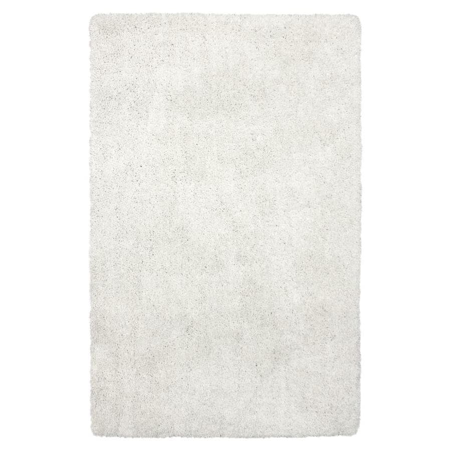 Carpet Art Deco Amest White Square Indoor Machine-Made Inspirational Area Rug (Common: 5 x 7; Actual: 5-ft W x 7-ft L)