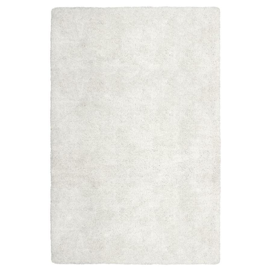 Carpet Art Deco Amest White Rectangular Indoor Inspirational Area Rug (Common: 8 x 10; Actual: 8-ft W x 10-ft L)