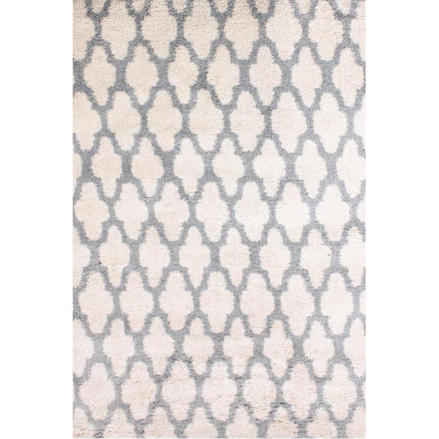 shop carpet art deco majesty 5x7 white white indoor area rug common 5 x 7 actual 5 ft w x 7. Black Bedroom Furniture Sets. Home Design Ideas