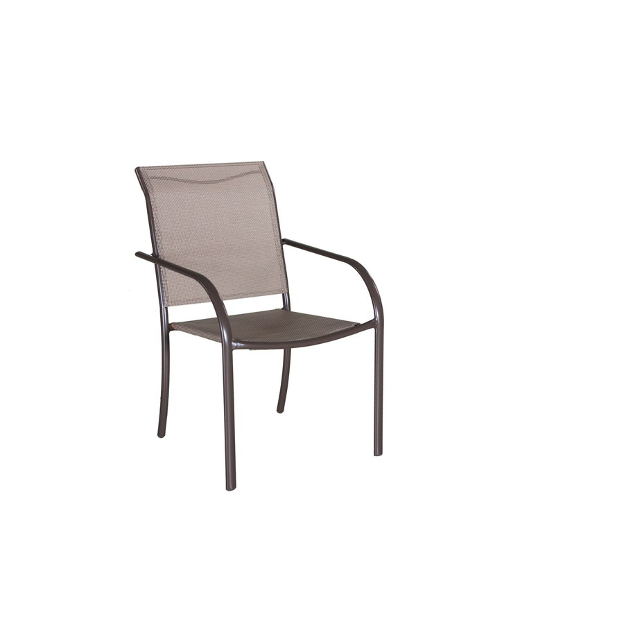 Garden Treasures Driscol Steel Patio Dining Chair