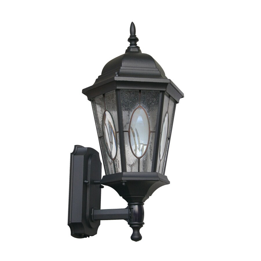 Portfolio Black Motion Activated Outdoor Wall Light With