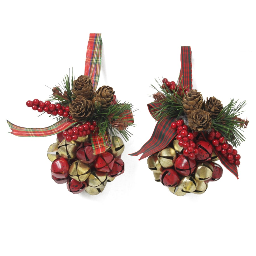 Shop holiday living pack pine cone jingle bell ornaments