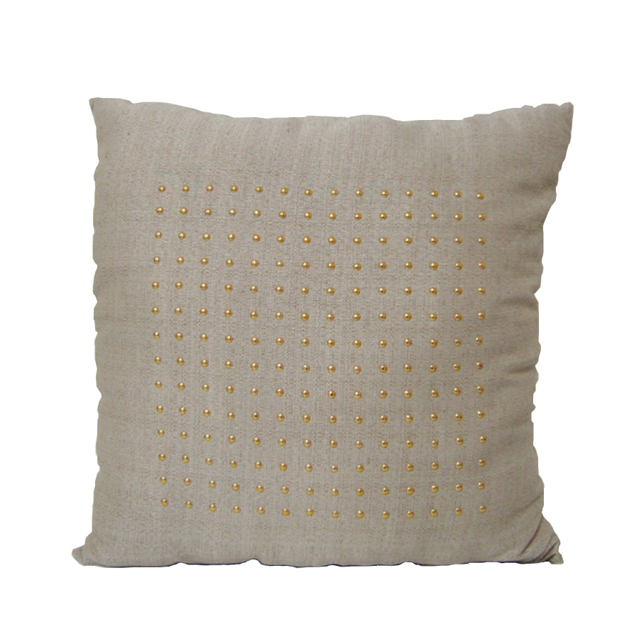 allen + roth Natural Dot Grid Pillow