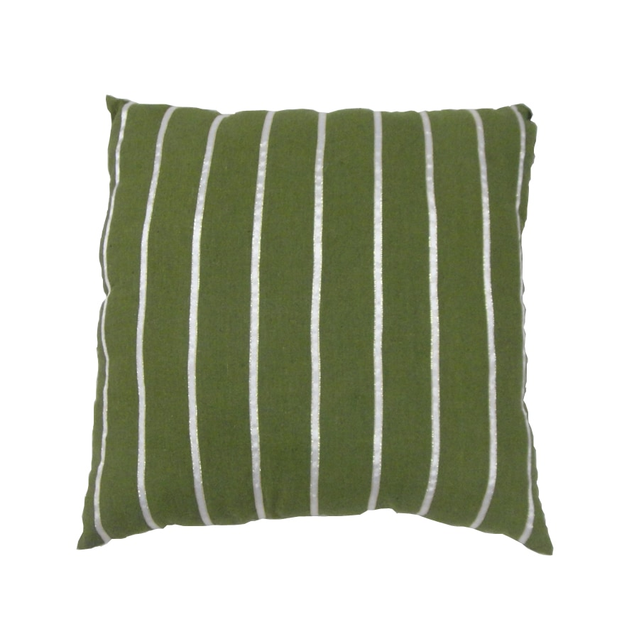 allen + roth Green Stripe Pillow