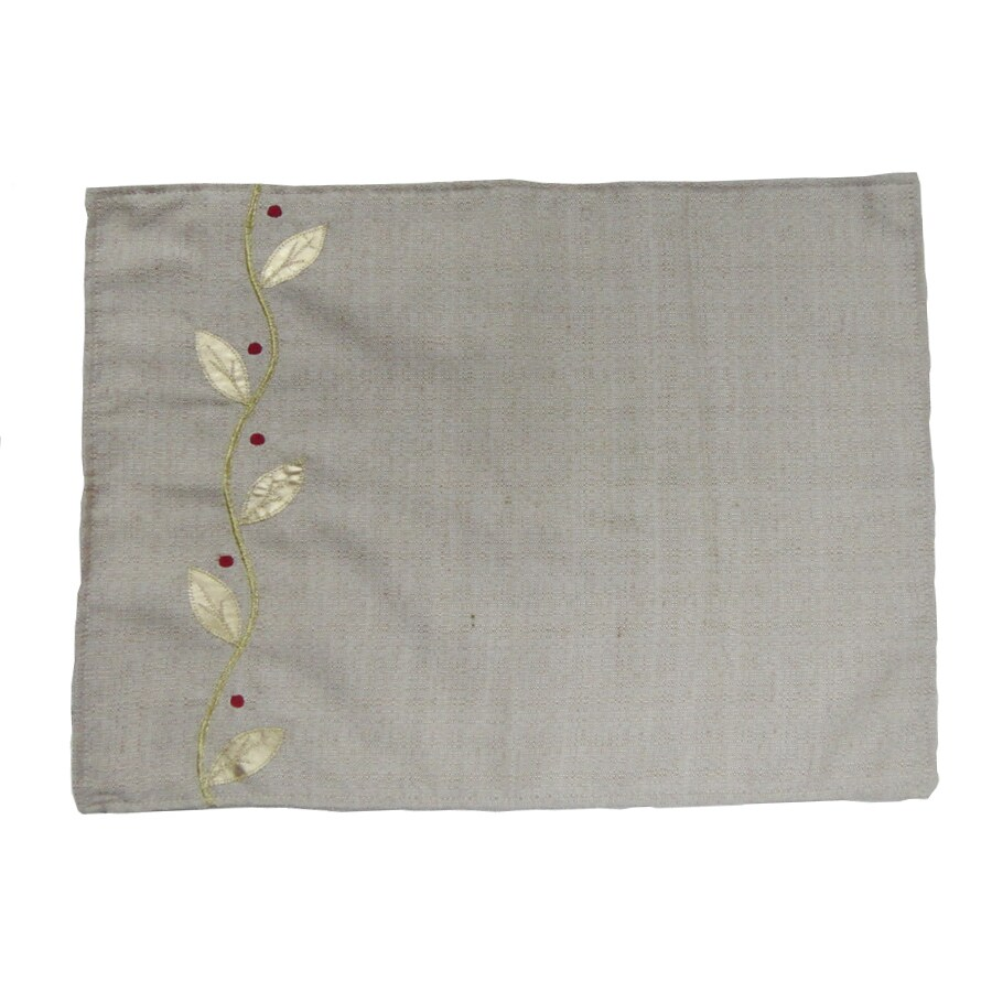 allen + roth Fabric Natural Vine Placemat Indoor Holiday Decoration