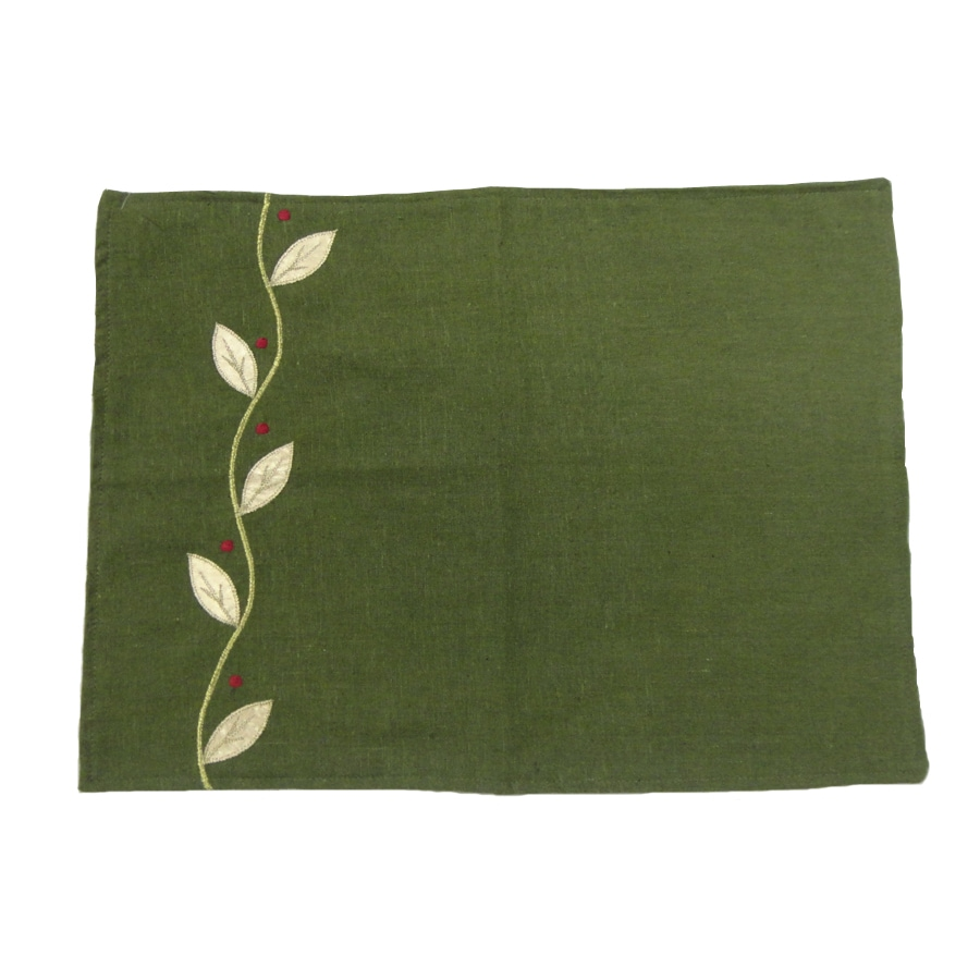 allen + roth Fabric Green Vine Placemat Indoor Holiday Decoration