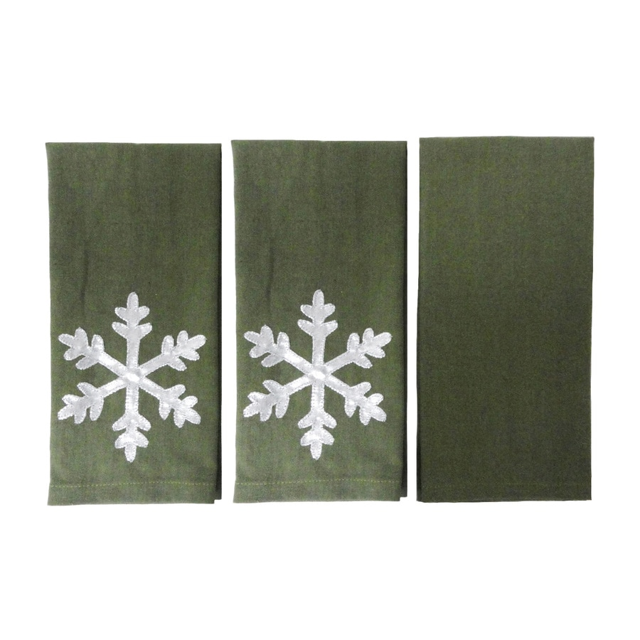 allen + roth 21-in x 14-in Green Cotton Fingertip Towel