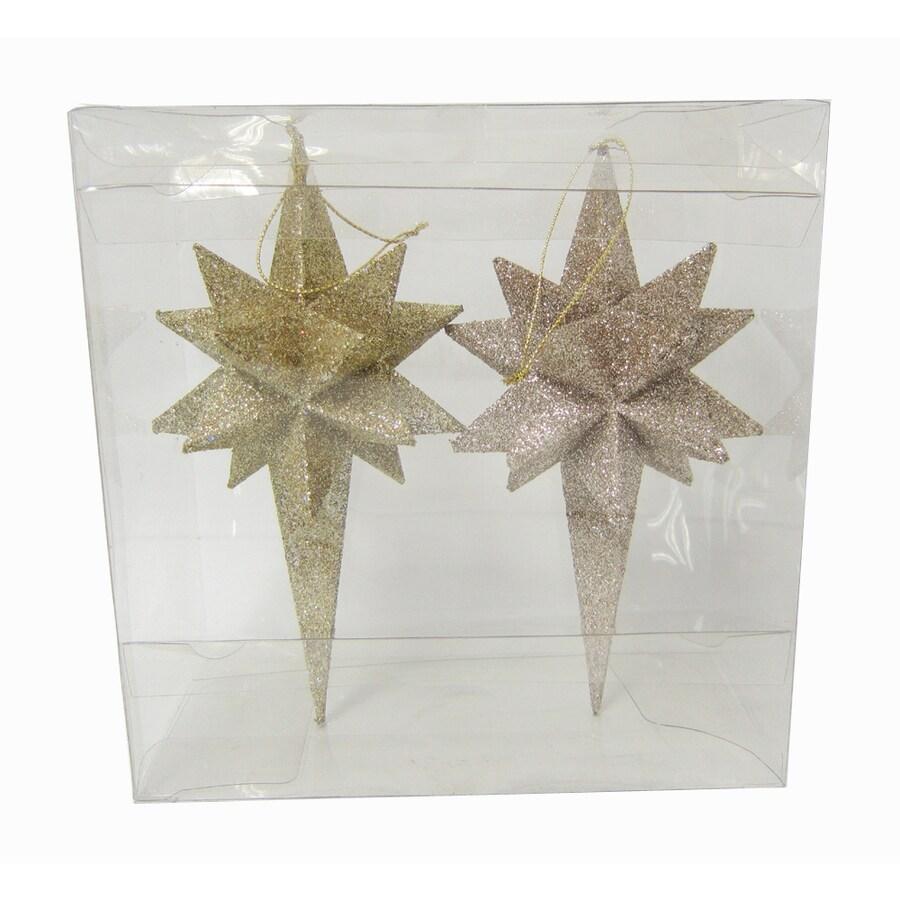 Holiday Living Gold Star Ornament Set Lights