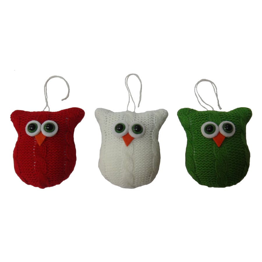 Holiday Living Multicolor Owl Ornament Set Lights