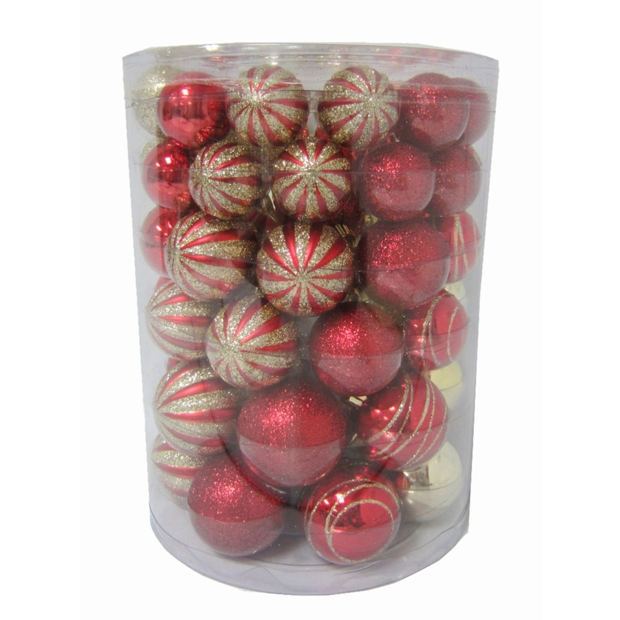 Holiday Living Red Ball Ornament Set Lights
