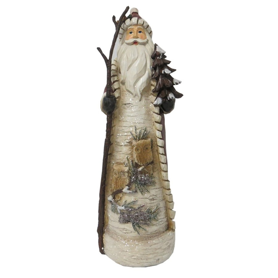 Holiday Living Resin 16.25-in Woodlands Santa Christmas Collectible