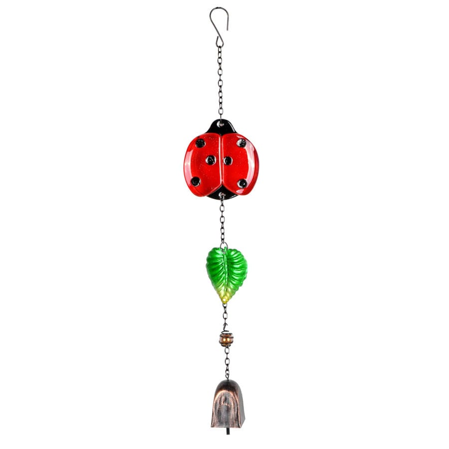 Garden Treasures 20-in Red, Green, Oil-Rubbed Bronze Metal Wind Chime