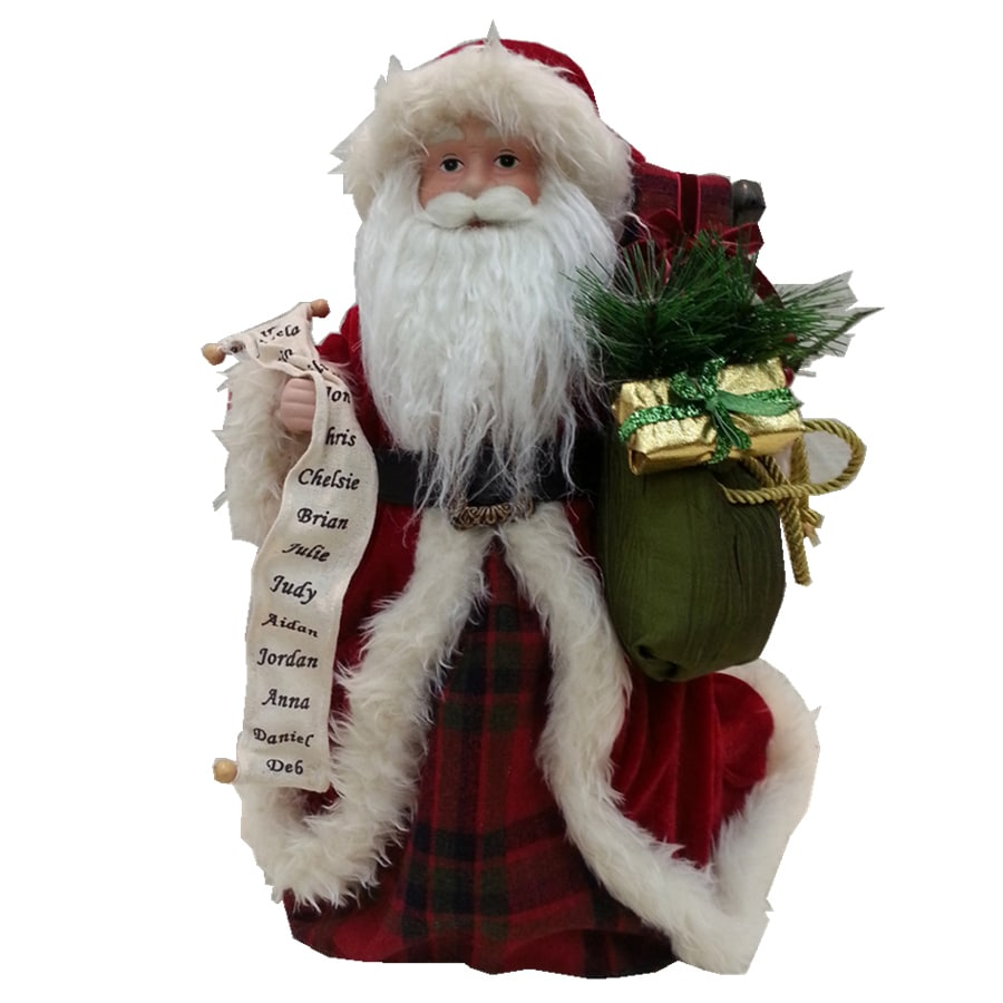 holiday living 16 in fabric santa christmas tree topper