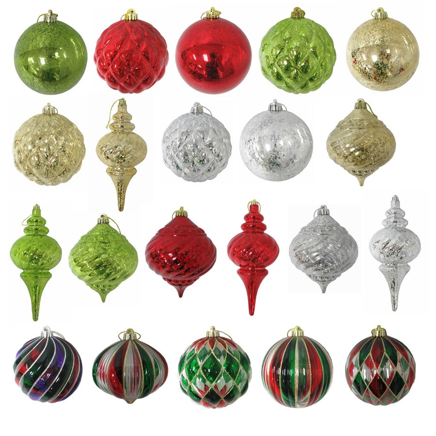 Holiday Living Red Green Gold Silver Ornament