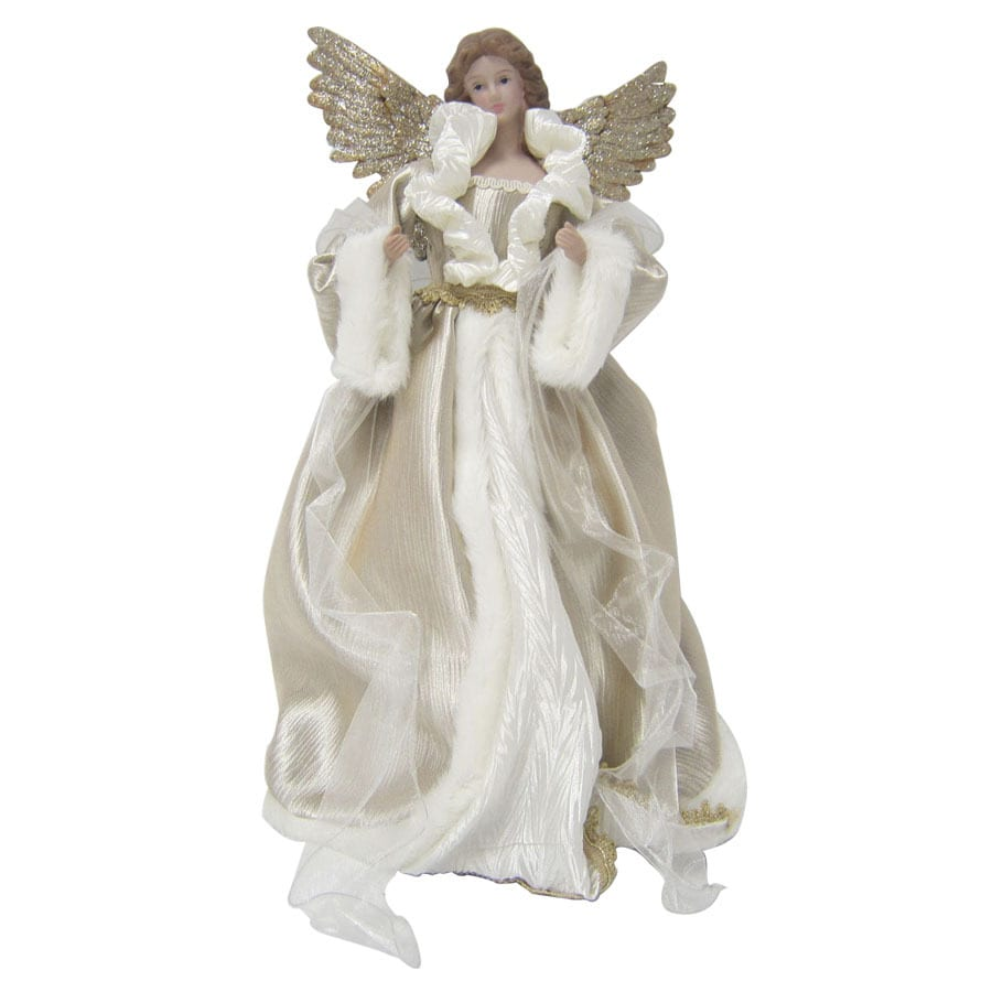 Christmas Tree Angel Tree Topper: Holiday Living 16-in Fabric Angel Christmas Tree Topper At